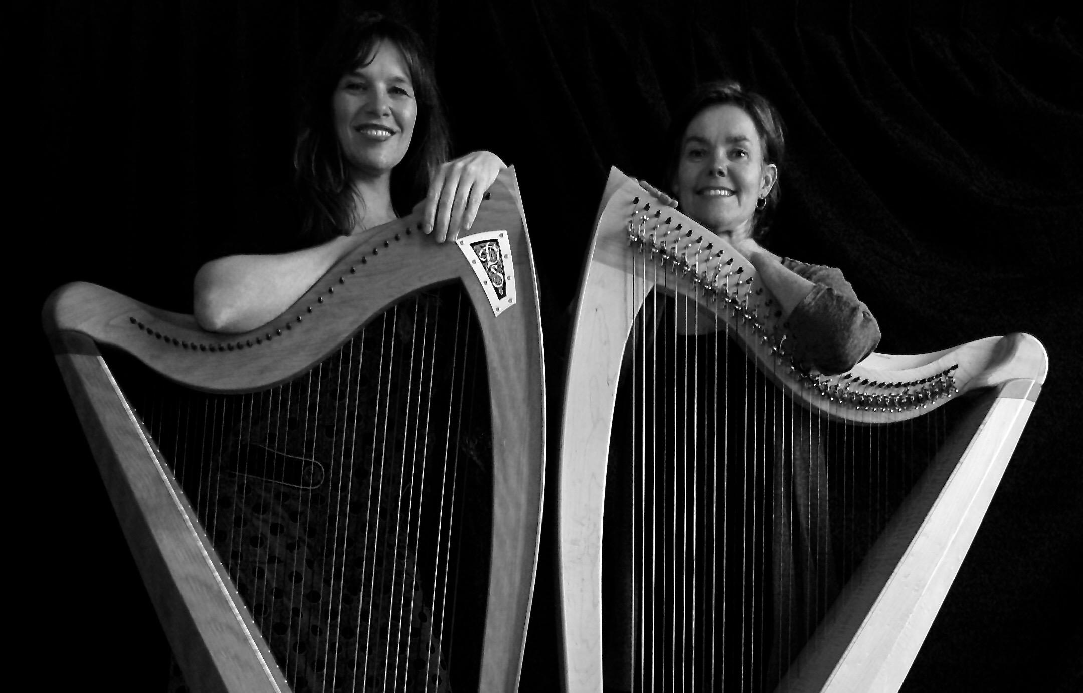 harp duo, healing harp, bad van licht, celtic harp