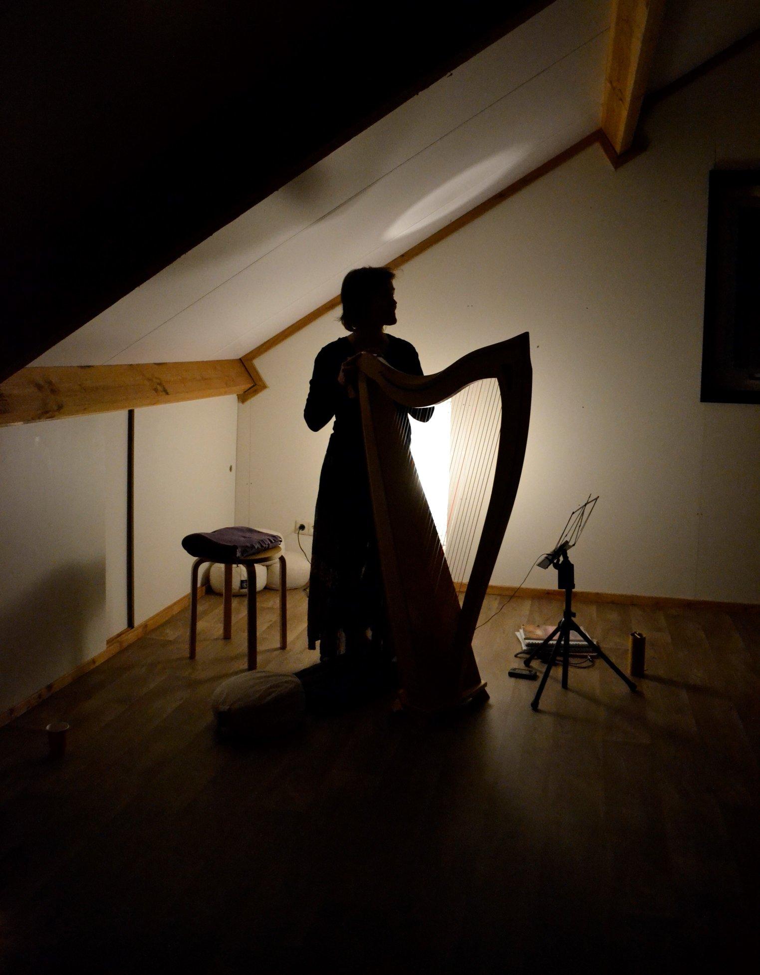 yoga concert, harp, meditation, celtic harp, sound healing
