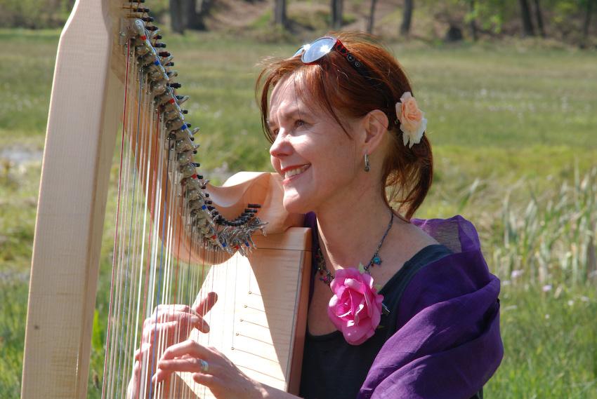 keltische harp, huwelijk, bruiloft, muzikant