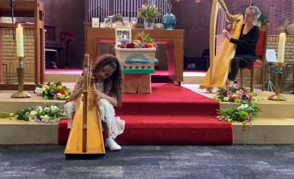 harp duo bij uitvaart